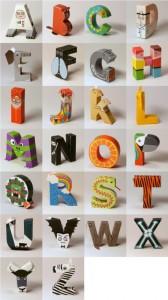 alphabet en papier