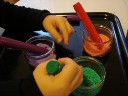 sable coloré au feutre