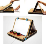 Fabriquer un chevalet avec une boite à pizza