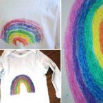 Créer un tee shirt personnalisé : dessiner au crayon gras et papier de verre