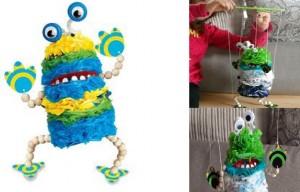 fabriquer marionnette articullée soi meme avec sac plastique