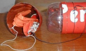 fusée à eau avec parachute