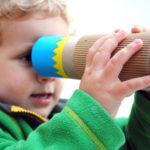 Fabriquer un #kaléidoscope avec un rouleau d'essuie tout