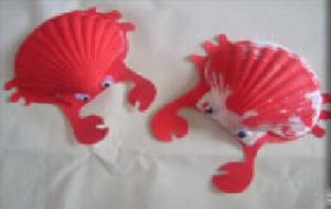 les crabes en coquillage