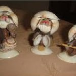 Fabriquer des figurines en coquillage