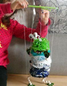 marionnette sac plastique