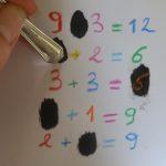 Apprendre les calculs en s'amusant / Réaliser des cartes à gratter