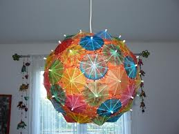 suspension boule japonaise parapluie
