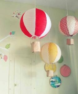 suspension montgolfière