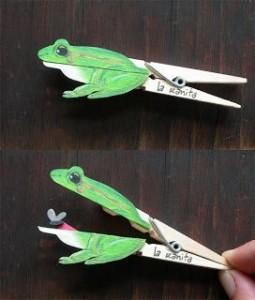 grenouille pince à linge