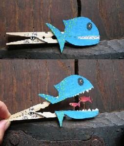 gros poisson pince à linge