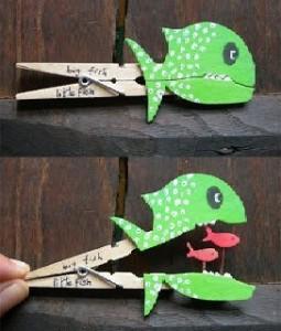 poisson pince à linge