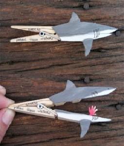 requin pince à linge