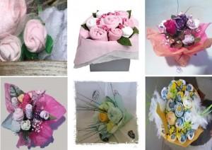bouquet de bavoir couche ou layette