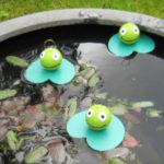 Fabriquer une pêche aux canards …. avec des grenouilles