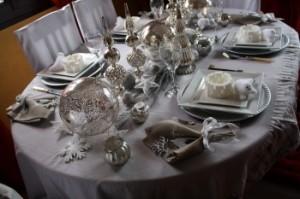 décoration table de noel