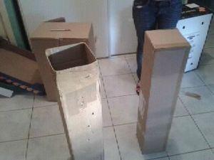 étape cheminée en carton
