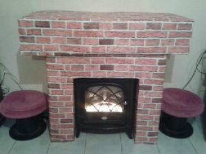 fabriquer cheminée en carton