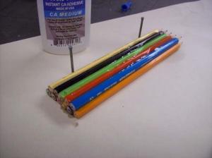 fabriquer bague avec crayon de couleur