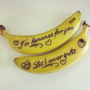 écrire sur banane