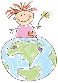 dessin enfant terre