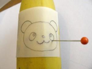 dessiner sur banane