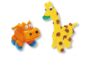 hippopotame et girafe flocon de maïs