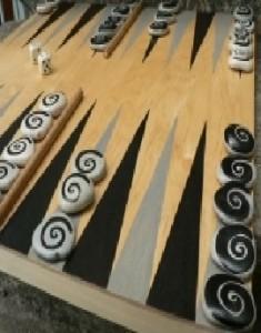 jeu du Backgammon galet à fabriquer