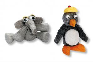 pingouin et elephant en flocon de maïs