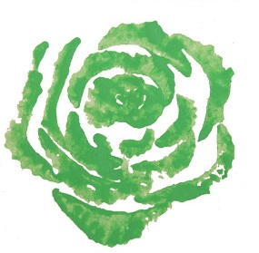 rose faite avec des légumes